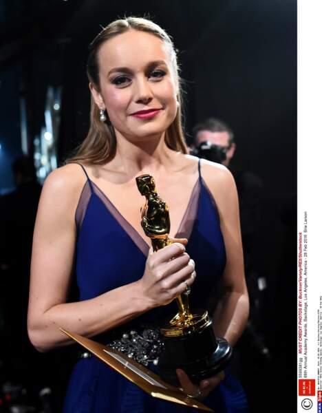 Brie Larson avait mis pas mal de poudre « Pas trop près on va voir ma couperose » « Je fais bien l'humilité là ? »