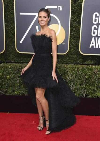 Heidi Klum lors de la 75e cérémonie des Golden Globes, le 7 janvier 2018