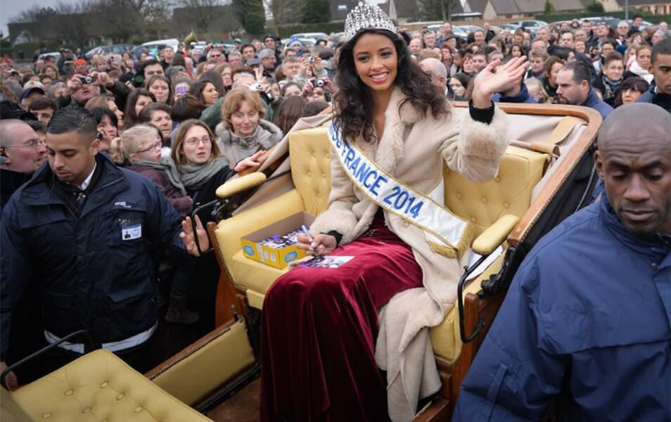 Flora Coquerel, la Miss France 2014, est de retour chez elle à Morancez