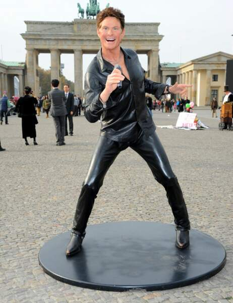 David Hasselhoff devant la porte de Brandebourg
