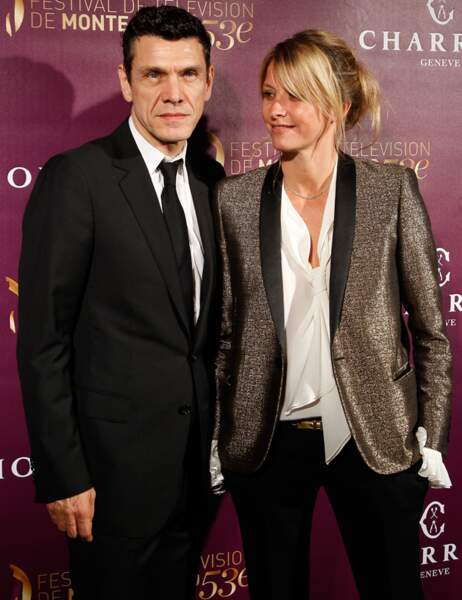 Marc Lavoine, venu avec sa femme Sarah Poniatowski, jouera dans la série Crossing Lines
