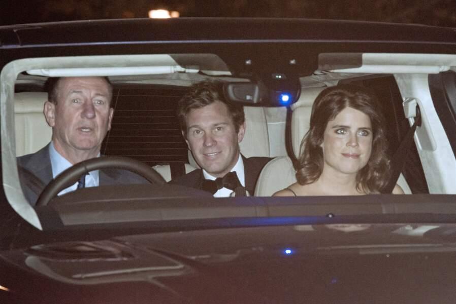 Jack Brooksbank et la prince Eugenie à l'anniversaire du prince Charles