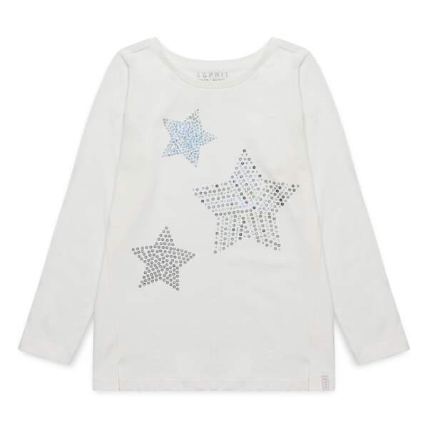 T-shirt. En coton à paillettes, du 2 au 9 ans, à partir de 15,99 €, Esprit Kids