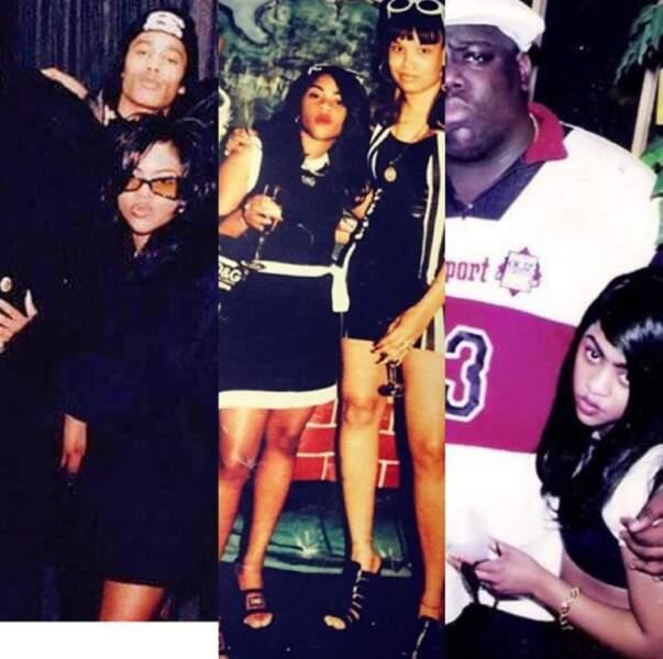 Lil'Kim à ses débuts avec Notorious Big, dès 1994: elle est naturelle.