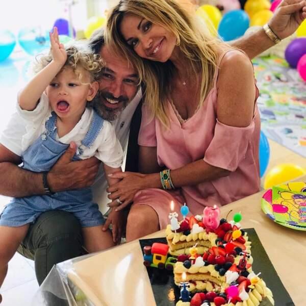 Ingrid Chauvin et son mari Thierry ont gâté le petit Tom pour ses 3 ans