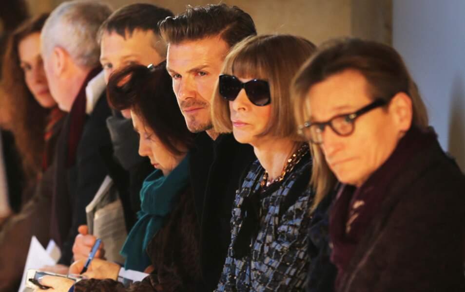 David Beckham et Anna Wintour très attentifs