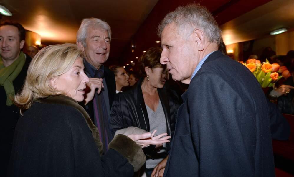 Claire Chazal en grande conversation avec son ex, Patrick Poivre d'Arvor