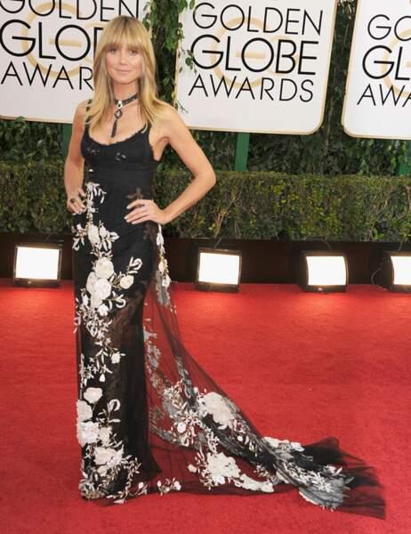 Maquillage aux abonnés absents et robe bof-bof : ce n'est pas la grande forme pour Heidi Klum