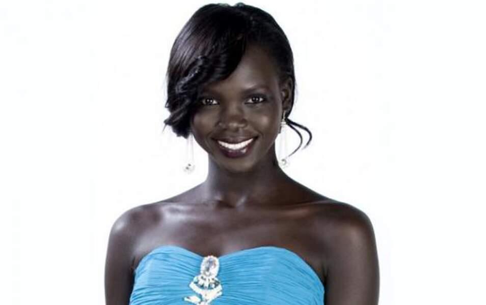 Miss Soudan du Sud Modong Manuela Mogga, 21 ans