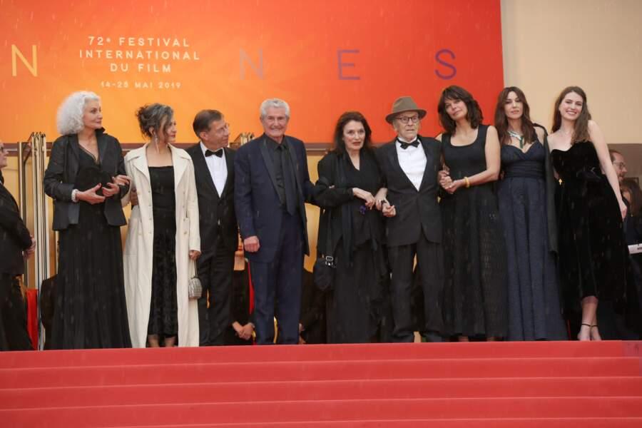 """Montée des marches du film """"Les plus belles années d'une vie"""" le 18 mai 2019"""