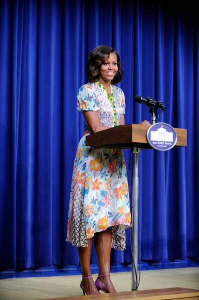 Michelle Obama en robe légère fleurie Duro Olowu