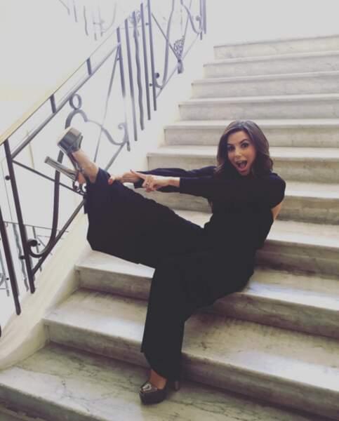 Insta Cannes 2016 : Eva Longoria adore ses nouvelles chaussures Giuseppe Zanotti.