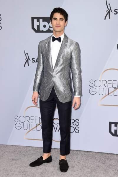 Darren Criss aux SAG Awards 2019, le 27 janvier, à Los Angeles