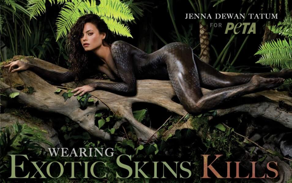 Jenna Dewan Tatum pour la Peta