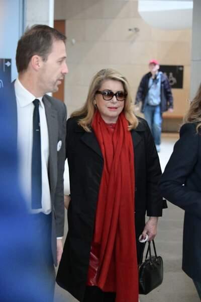 Catherine Deneuve à l'hommage à Agnès Varda