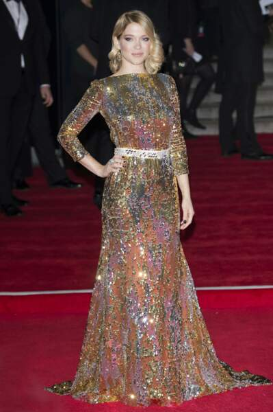 Léa Seydoux en Prada à l'avant-première de Spectre