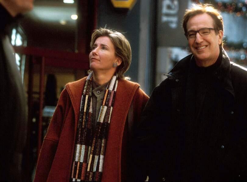 Emma Thompson et Alan Rickman jouaient le couple en difficultés