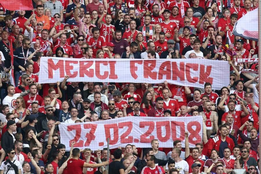 L'hommage des supporters du Bayern à Franck Ribéry