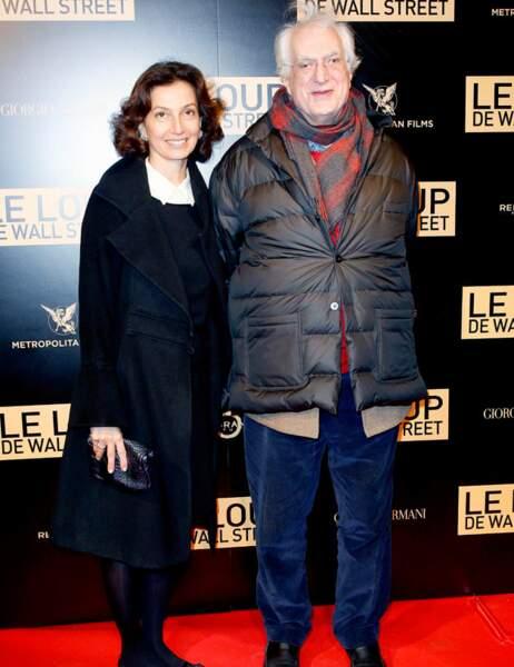 Bertrand Tavernier (bel effort sur la tenue) et Audrey Azoulay