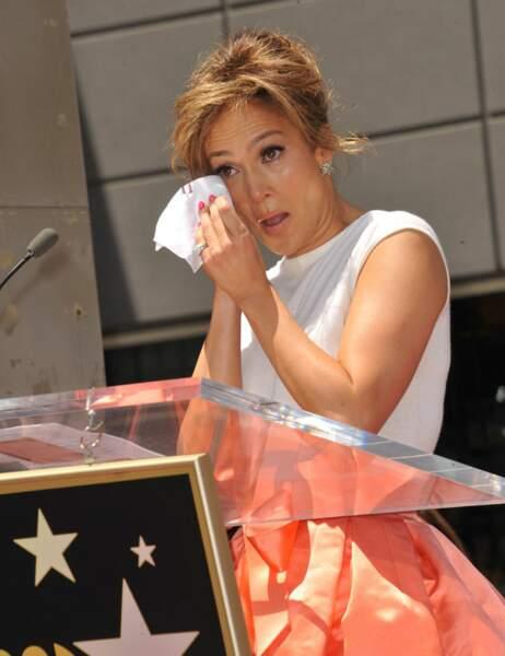 Jennifer Lopez lors de son discours