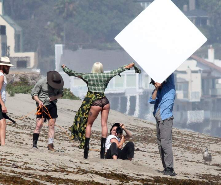 Lady Gaga en plein shooting