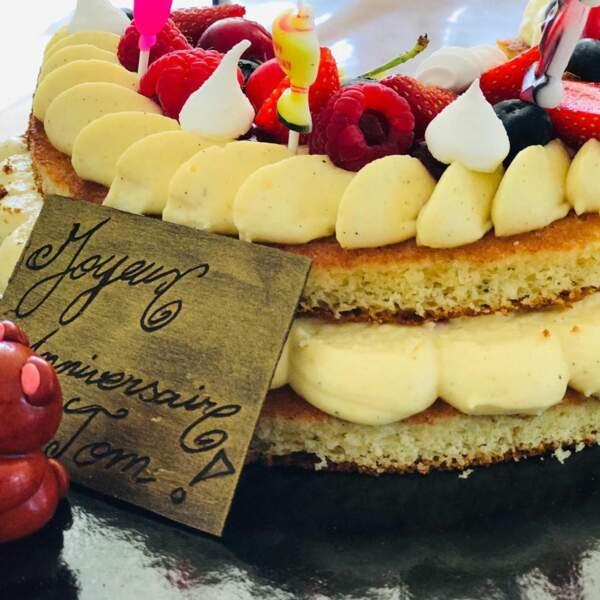 La star a fait profiter ses abonnés Instagram de cette magnifique pâtisserie