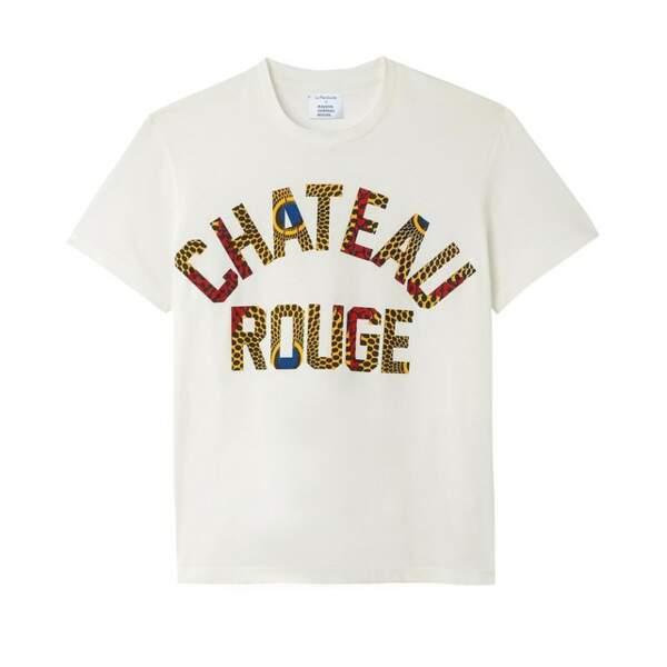 T-shirt col rond manches courtes, La Redoute x Maison Château Rouge, 19€