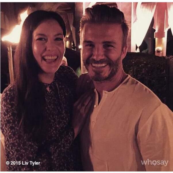 Liv Tyler et David Beckham