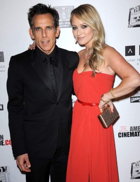 Ben Stiller et sa femme Christine Taylor