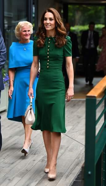 Kate Middleton en vert et crème