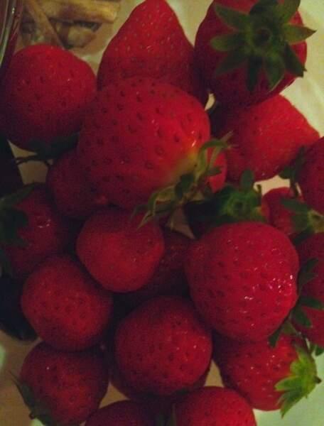 Des fraises au menu