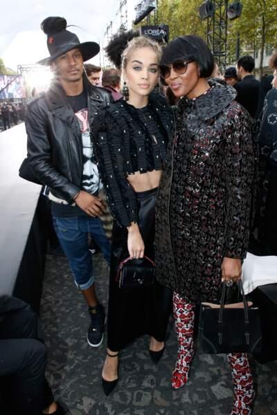 Le Défilé L'Oréal Paris show - Laurent Bourgeois, Jasmine Sanders et Naomi Campbell