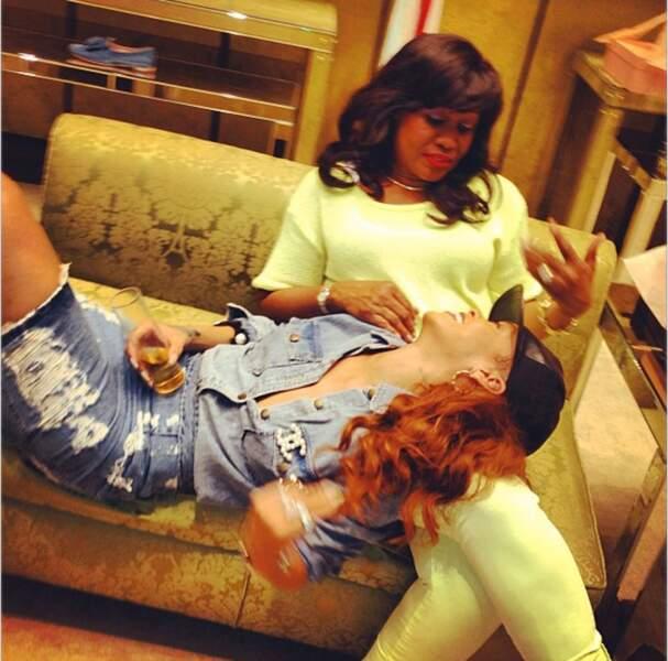 Rihanna et sa maman, Monica