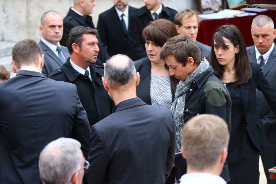 William, le petit-ami de Camille (au centre, avec le foulard)
