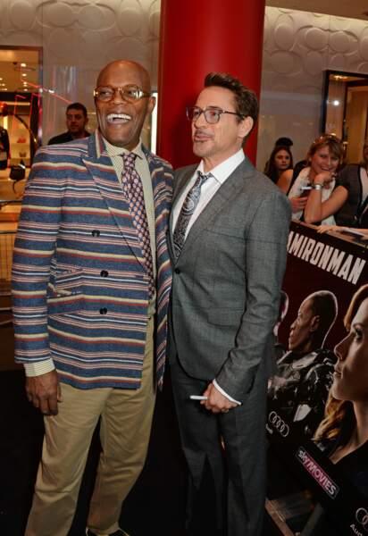Avant-première de Captain America: Civil War - Robert Downey Jr & Samuel L. Jackson