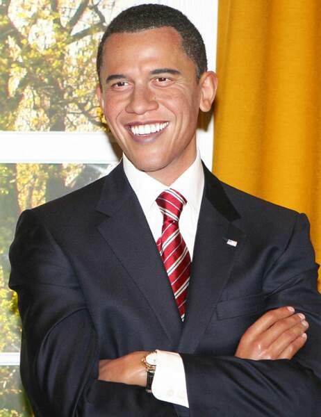 Barack Obama au Madame Tussauds de Londres