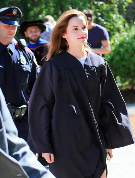 Elle s'est rendue à la cérémonie organisée à l'Université de Brown