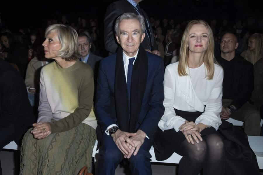 La famille Arnault (propriétaire de la marque) au défilé Prêt-à-Porter Céline à Paris
