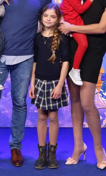 Rose, la fille d'Elodie Gossuin et Bertrand Lacherie, 9 ans