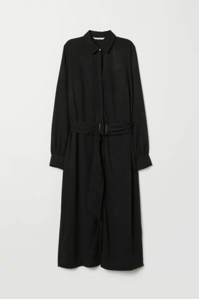 Longue robe chemise, H&M, 29,99€