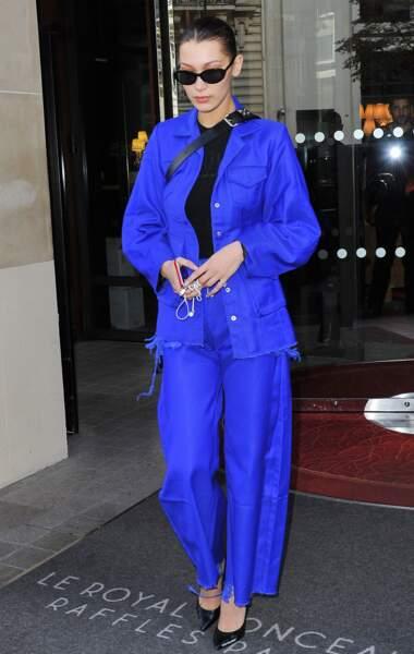 Les do de la semaine : le pantalon large - Bella Hadid