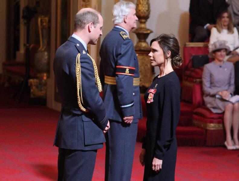 Victoria Beckham et le prince William ont pu échanger cordialement