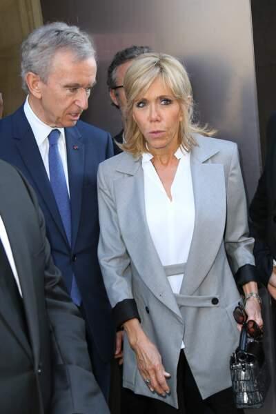 Exposition Christian Dior au Musée des Arts décoratifs à Paris : Brigitte Macron et Bernard Arnault