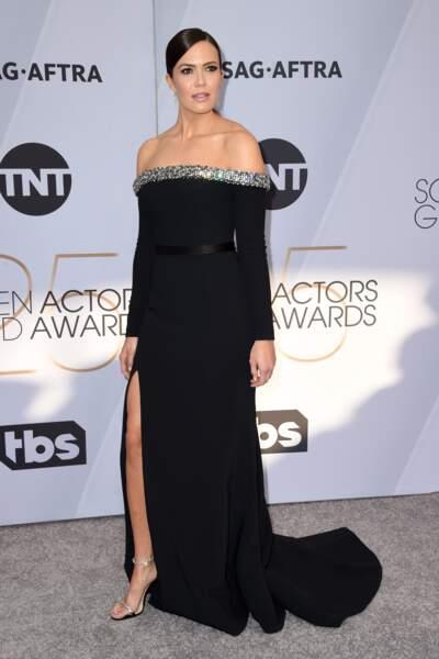 Mandy Moore aux SAG Awards 2019, le 27 janvier, à Los Angeles