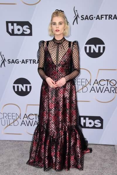 Lucy Boynton aux SAG Awards 2019, le 27 janvier, à Los Angeles