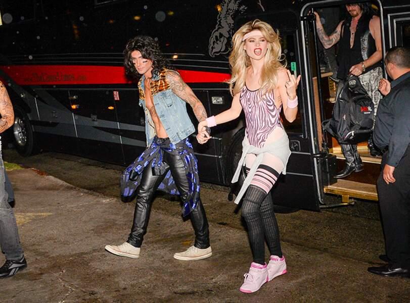 Adam Levine et Behati Prinsloo déguisés en star des années 80