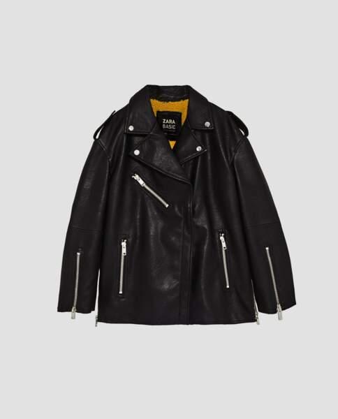 Zara : Blouson oversize texturé, 29,99 euros au lieu de 45,99 euros