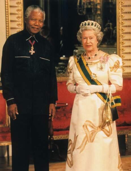 Avec la reine Elizabeth II