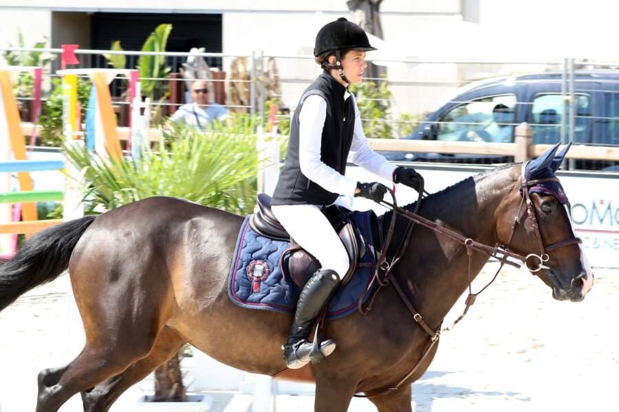 Charlotte Casiraghi et son cheval Tchintchin du Village concourent au Jumping de Monte Carlo