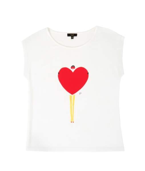 Tee-shirt. En coton, 39€, 1.2.3 x Eric Giriat.